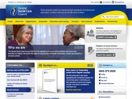 Website for The General Social Care Council