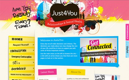 Website for Just4You Solihull
