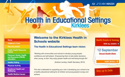 Website for Kirklees Healthy Schools