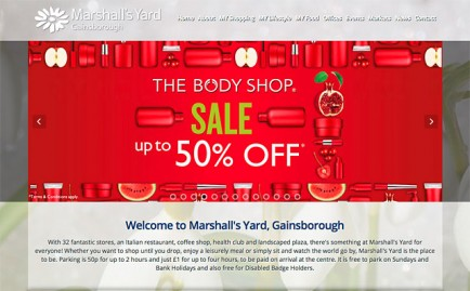 Website for Marshall's Yard, Gainsborough