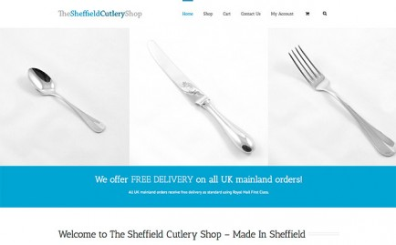 Website for The Sheffield Cutlery Shop