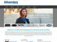 Website for Alhambra Centre, Barnsley