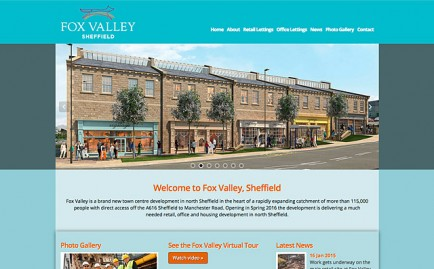Website for Fox Valley, Sheffield