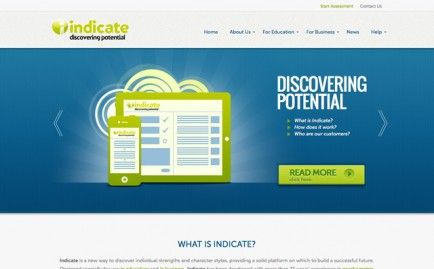 Website for Indicate