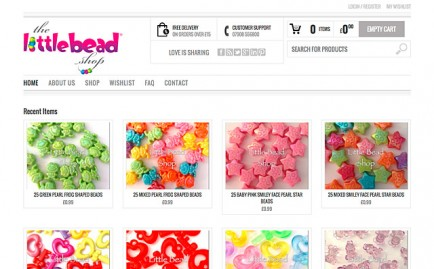 Website for The Little Bead Shop