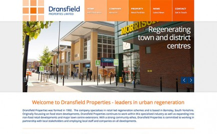 Website for Dransfield Properties
