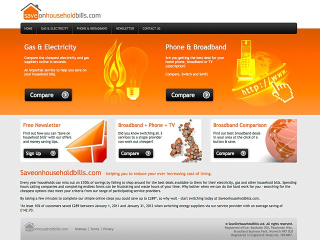 Save On Household Bills Website Launched